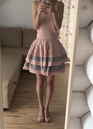 Мини юбка пачка солнце-клеш