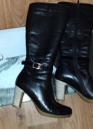 Зимние кожаные сапоги от good way