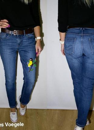 Красивенные джинсики с уникальной вышивкой charles voegele