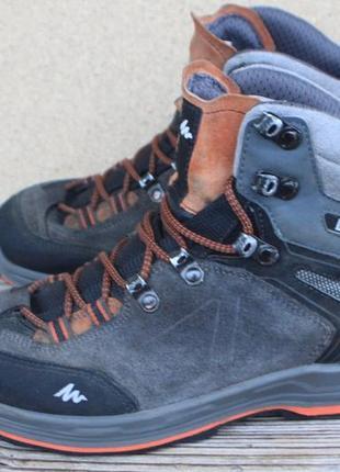 Ботинки quechua замша франция 39р waterproof