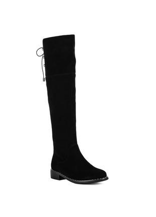 1076ц женские ботфорты brocolі,замшевые,на каблуке,на низком ходу,на толстом каблуке