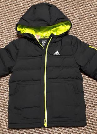 Adidas куртка пуховик 116,128