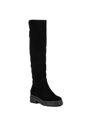 1066ц женские ботфорты djovannia,замшевые,на каблуке,на низком ходу,на толстом каблуке