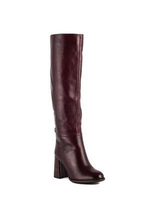 1065ц женские сапоги djovannia,кожаные,на каблуке,на высоком каблуке,на толстом каблуке