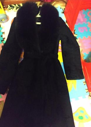 Пальто c натуральным мехом