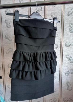 Коктейльное черное платье tago