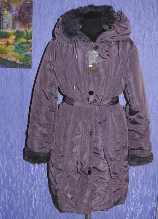Пальто пуховик зимний большой размер 54-56р. xxxl 18-20р. новый
