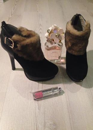 Брендовые стильные ботиночки fendi