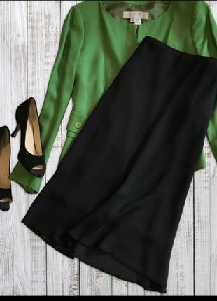 Шифоновая миди юбка