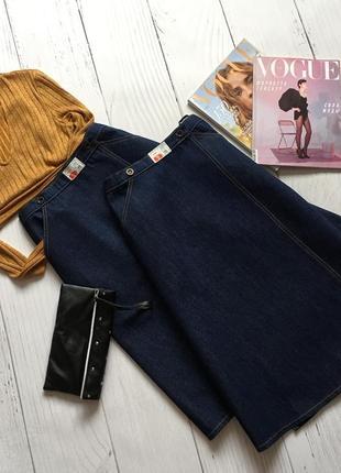 Стильная джинсовая юбка мили на запах marks&spencer