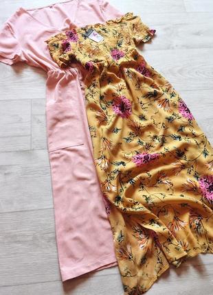 Платье миди на резинке на плечи primark