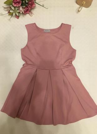 Платье розовая пудра л