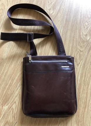 Piquadro итальянская оригинальная мужская сумка через плече кожаная