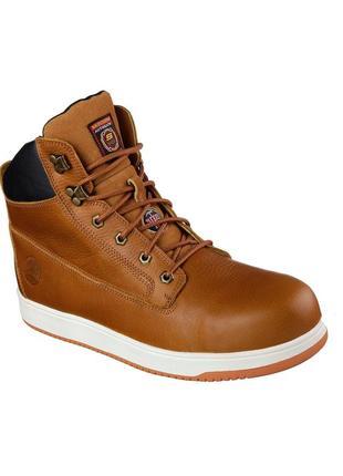 Skechers. 41р (стелька)26см. кожаные ботинки из сша. желтые. берцы.