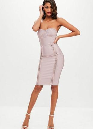 ❗️знижка до 15 березня❗️спокуслива бандажна сукня міді missguided❤️