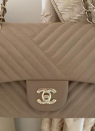 Очень красивая бежевая сумка