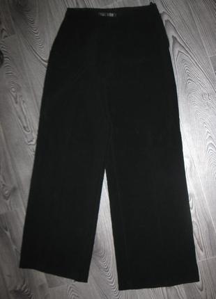 Широкие плотные костюмные брюки палаццо с высокой талией