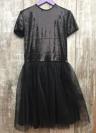 Платье-пачка с пайетками
