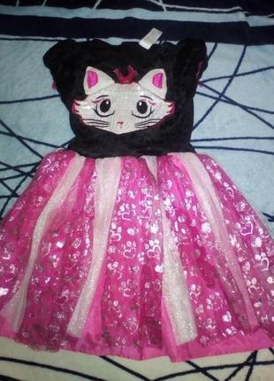 Карнавальный новогодний костюм платье кошечки tu на 1-2года
