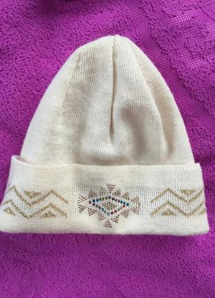 Шикарная винтажная шапка из мериноса италия