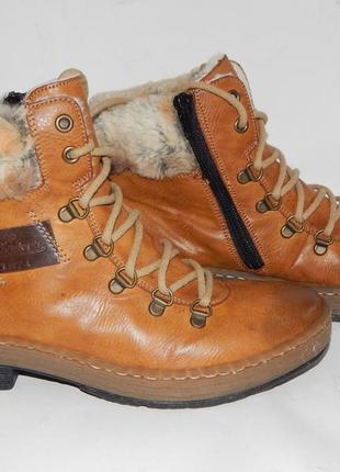 Зимние ботиночки rieker, 25 см.
