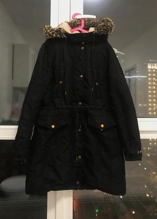 Зимнее пальто-пуховик levi's