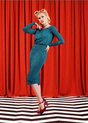 Сияющее изумрудное платье с открытой спиной be trendy размер s-m
