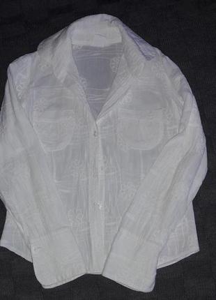 Школьная рубашка набивная р.128