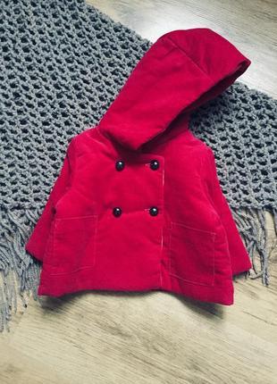 Пальто на малышку 0-3 noppiesbaby