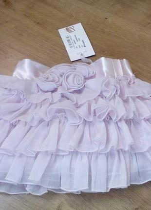 Нарядная юбочка для маленькой принцессы.  12мес