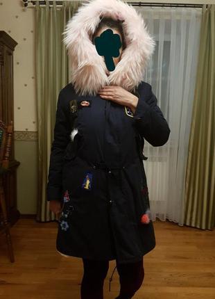 Зимняя парка куртка с мехом