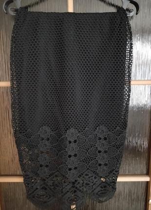 Юбка в стиле dolce & gabbana с плетенным кружевом.