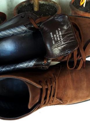 """Мягкие утепленные кожаные ботинки """"clarks"""" с технологией gore-tex. англия! 41 р."""