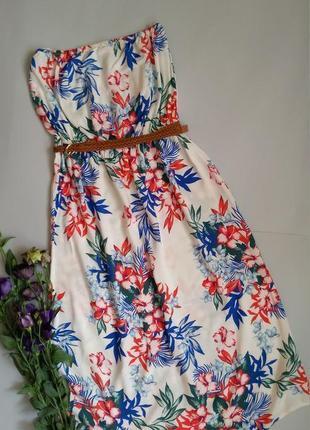 Платье миди в цветах