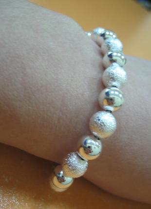 Новорічний посріблений браслет