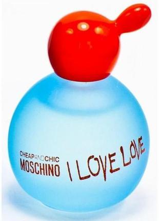 Moschino i love love туалетная вода (мини)-4.9 мл