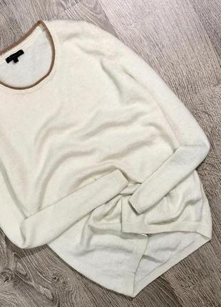 Шерстяной удлиненный свитер от дорогущего бренда