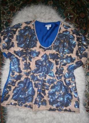 Красивая эффектная блуза в пайетки