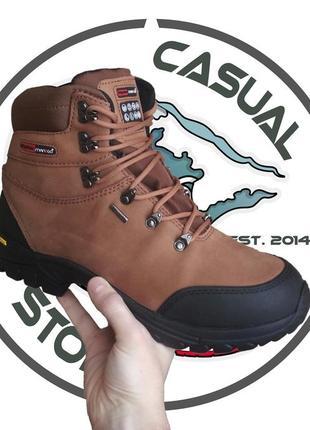 Треккинговые кожанные новые ботинки man.go cityrider! 44,5 размер