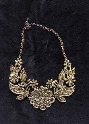 Кольє колье цепочка ланцюжок підвіска подвеска ожерелье