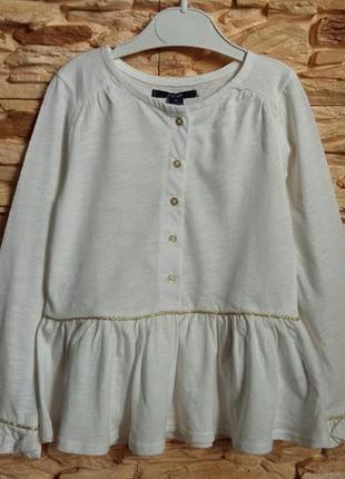 Туника/блуза с баской kiabi (франция) на 4-5 лет (размер 108-113)