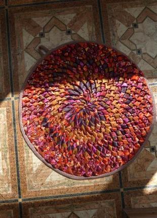Пэчворк коврик из лоскутков