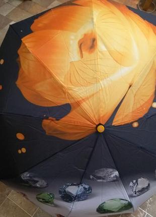 Красивый зонт,спица карбон, антиветер,автомат,качество, супер подарок