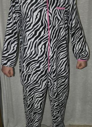 52-54 pretty secrets кигуруми зебра пижама человечек комбинезон