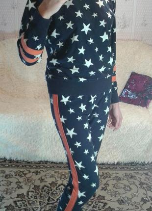 Флисовая пижамка next - xs
