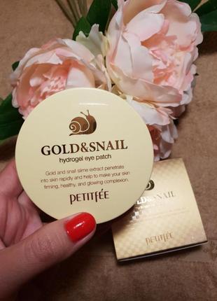Гидрогелевые патчи для глаз и носогубок petitfee gold&snail hydrogel eye patch