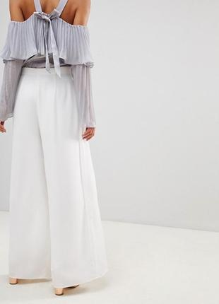 Coast шикарные белые { айвори }широкие брюки высокая посадка - талия 10- размер