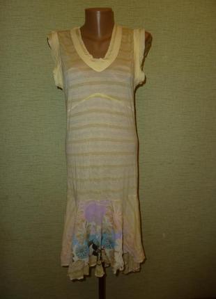 Freesoul (италия) новое платье l, 50% хлопок +50% висоза
