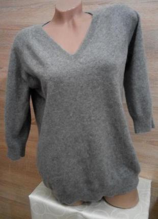Меланжевый свитер полувер джемпер кашемир 100 %