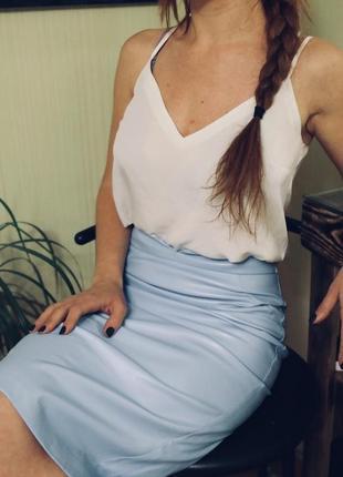 Блуза майка в пижамном стиле
